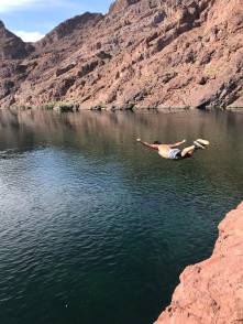 when you find that perfect spot for cliff jumping